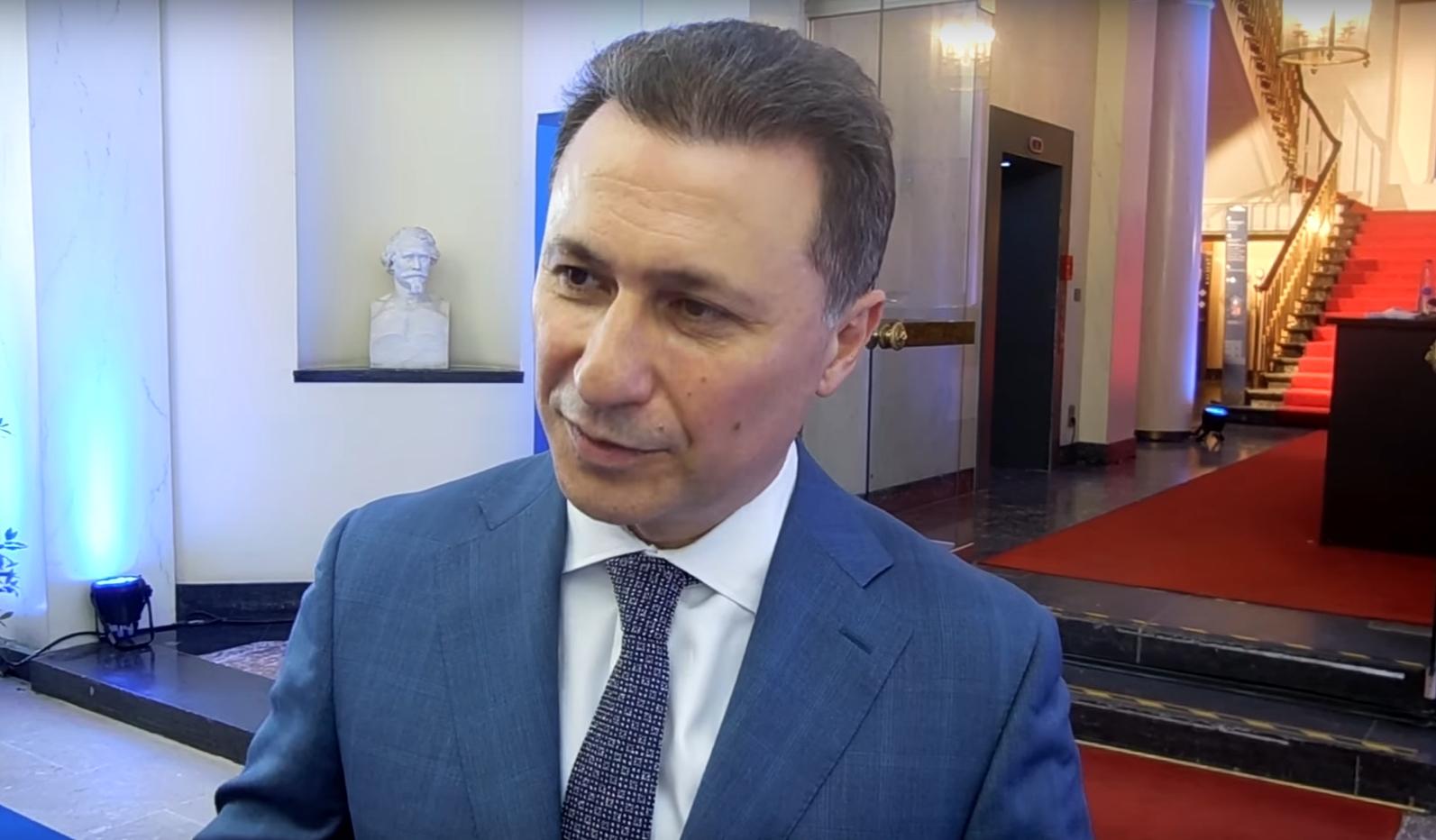 Груевски: Во Македонија медиумите и судството се под силен притисок на новата власт