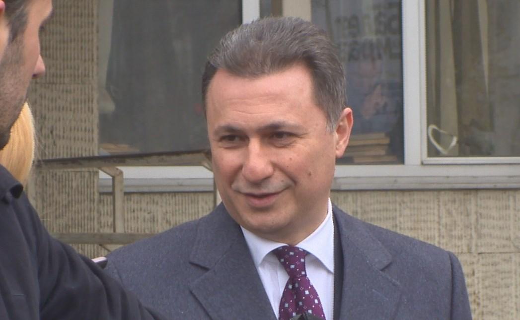 Груевски  Имаме селективна правда преку политички монтирани процеси